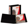 Samsill Speedy Spine Round Ring View Binder, 11 x 8-1/2, 2 Capacity, Black (SAM18160C)