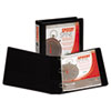 Samsill Speedy Spine Round Ring View Binder, 11 x 8-1/2, 1-1/2 Capacity, Black (SAM18150C)