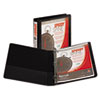 Samsill Speedy Spine Angle-D Ring View Binder, 11 x 8-1/2, 1 Capacity, Black (SAM19130C)