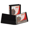 Samsill Speedy Spine Angle-D Ring View Binder, 11 x 8-1/2, 1-1/2 Capacity, Black (SAM19150C)