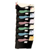 Officemate Wall Filing System, Seven Pockets, 38 1/4 x 15 3/4 x 4, Plastic, Black (OIC21726)