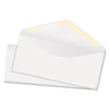 Quality Park White Wove Business Envelope Convenience Packs, V-Flap, #10, Recycled, 100/Box (QUA69007)