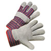 Anchor Brand Leather Palm Work Gloves, Gray/Blue/White (ANR2000)