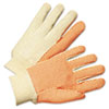 Anchor Brand 1000 Series PVC Dotted Canvas Gloves, Orange/Black, Large (ANR1090)