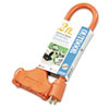 Cci Tri-Source Vinyl Multiple Outlet Cord, 3-Way, 2ft, AWG 12/3, SJTW-A, Orange (COC04112)