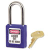 Master Lock No. 410 Lightweight Xenoy Safety Lockout Padlock, 6 Pin, Blue (MLK410BLU)
