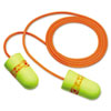 3M EARsoft SuperFit Single-Use Earplugs, Corded, 33NRR, Yellow/Red (MMM3111254)