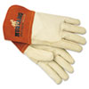 Memphis Mustang MIG/TIG Leather Welding Gloves, White/Russet, Large (MPG4950L)