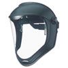 Uvex Bionic Face Shield, Matte Black Frame, Clear Lens (UVXS8500)