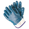Memphis Predator Premium Nitrile-Coated Gloves, Blue/White, Large (MPG9761R)
