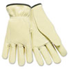 Memphis Full Leather Cow Grain Driver Gloves, Tan, Large (MPG3200L)