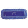 Unisan Mop Head, Dust, Looped-End, Cotton/Synthetic Fibers, 18 x 5, Blue (UNS1118)