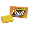 Dial Antibacterial Deodorant Bar Soap, Unwrapped, White, 2.5 oz (DPR00098)