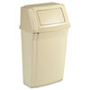 Rubbermaid Commercial Slim Jim Wall-Mounted Container, Rectangular, Plastic, 15gal, Beige (RCP7822BEI)