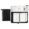 Day-Timer Woven Look Starter Set Organizer, Simulated Leather, 5 1/2 x 8 1/2, Black (DTM40671)