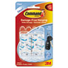 Command Clear Hooks and Strips, Plastic, Mini, 6 Hooks with 8 Adhesive Strips per Pack (MMM17006CLR)