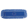 Unisan Mop Head, Dust, Looped-End, Cotton/Synthetic Fibers, 24 x 5, Blue (UNS1124)