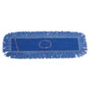 Unisan Dust Mop Head, Cotton/Synthetic Blend, 36 in x 5, Looped-End, Blue (UNS1136)