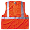 Ergodyne GloWear 8210Z Class 2 Economy Vest, Polyester Mesh, Zipper Closure, Orange, L/XL (EGO21045)