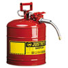 Justrite AccuFlow Safety Can, Type II, 5gal, Red, 5/8 Hose (JUS7250120)