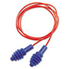 Howard Leight By Honeywell DPAS-30R AirSoft Multiple-Use Earplugs, 27NRR, Red Polycord, Blue (HOWDPAS30R)