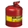 Justrite Safety Can, Type I, 5gal, Red (JUS7150100)
