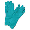 Boardwalk Flock-Lined Nitrile Gloves, Medium, Green, 13 in (BWK183M)