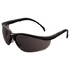 Crews Klondike Safety Glasses, Matte Black Frame, Gray Lens (CRWKD112)