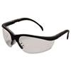 Crews Klondike Safety Glasses, Matte Black Frame, Clear Lens (CRWKD110)