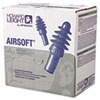 Howard Leight By Honeywell DPAS-30W AirSoft Multiple-Use Earplugs, 27NRR, White Nylon Cord, Blue (HOWDPAS30W)