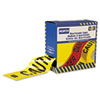 North Safety Barricade Tape, 3 x 1000 ft, Caution Text, Yellow/Black (NSPCT3YE1)