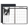 House Of Doolittle Monthly Planner w/Black-&-White Photos, 8-1/2 x 11, Black (HOD216202)