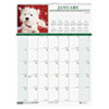 House Of Doolittle Puppies Monthly Wall Calendar, 12 x 12 (HOD3651)