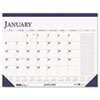 House Of Doolittle Two-Color Monthly Desk Pad Calendar w/Large Notes Section, 22 x 17 (HOD164)