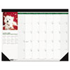 House Of Doolittle Puppies Photographic Monthly Desk Pad Calendar, 22 x 17 (HOD199)
