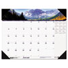 House Of Doolittle Mountains of the World Photographic Monthly Desk Pad Calendar, 22 x 17 (HOD176)
