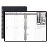 House Of Doolittle Weekly Planner w/Black-&-White Photos, 8-1/2 x 11, Black (HOD217102)