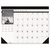 House Of Doolittle Black-and-White Photo Monthly Desk Pad Calendar, 22 x 17-2014 (HOD122)