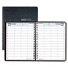 House Of Doolittle Four-Person Group Practice Daily Appointment Book, 8 x 11, Black (HOD28202)