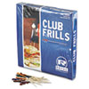 Royal Club Cellophane-Frill Wood Picks, 4, Assorted (RPPR812W)