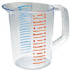 Rubbermaid Commercial Bouncer Measuring Cup, 32oz, Clear (RCP3216CLE)