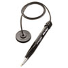 Mmf Industries Wedgy Coil Ballpoint Counter Pen with Round Base, Blue Ink, Medium (MMF28408)