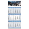 House Of Doolittle Scenic Landscapes Three-Months/Page Wall Calendar, 12-1/4 x 26-1/2 (HOD3638)
