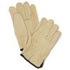 Memphis Unlined Pigskin Driver Gloves, Cream, Large (MPG3400L)