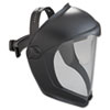 Uvex Bionic Face Shield, Matte Black Frame, Clear Lens (UVXS8510)
