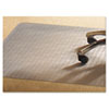 Mammoth Office Products PVC Chair Mat for Medium Pile Carpet, 46 x 60, No Lip, Clear (MPVV4660RMP)