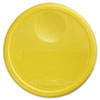 Rubbermaid Commercial Round Storage Container Lids, 13 1/2dia x 2 3/4h, Yellow (RCP5730YEL)