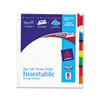Avery WorkSaver Big Tab Extrawide Dividers w/Eight Multicolor Tabs, 9 x 11, White (AVE11222)