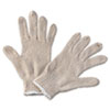 Boardwalk String Knit General Purpose Gloves, Large, Natural (BWK782)