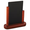 Deflect-O Securit Table Boards, 6 1/2 x 2 x 6 3/4, Mahogany Frame, 1/ea (DEFELEMSM)